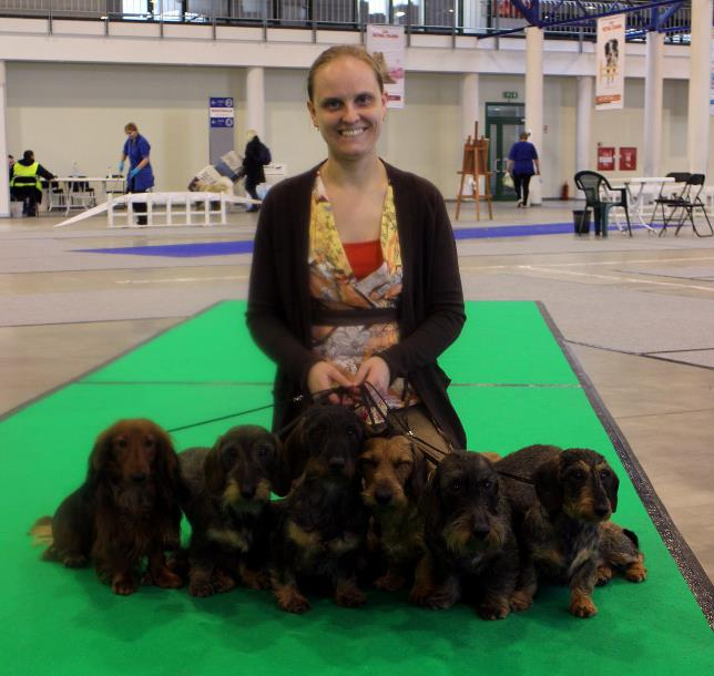 Happy handler with successfull dogs :)